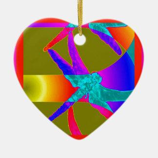 Regalos impresionantes del arco iris de la libélul ornamentos de reyes