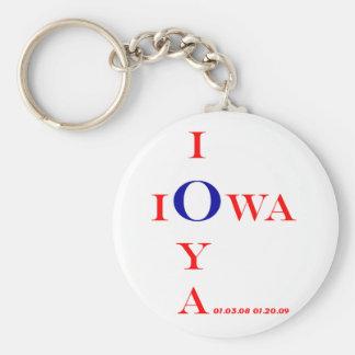 Regalos inaugurales de IOWA IOYA y de IOWA IOU 200 Llavero Redondo Tipo Pin