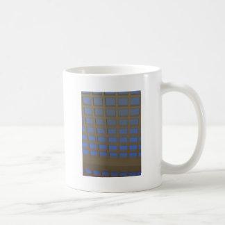 REGALOS inclinados azul elegante del arte gráfico  Taza De Café