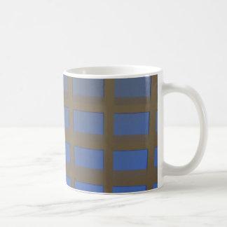 REGALOS inclinados azul elegante del arte gráfico  Tazas De Café