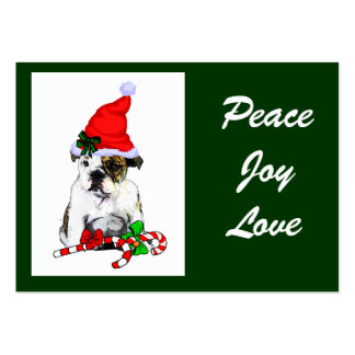 Regalos ingleses del navidad del dogo tarjeta de visita