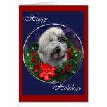 Regalos ingleses viejos del navidad del perro past felicitacion