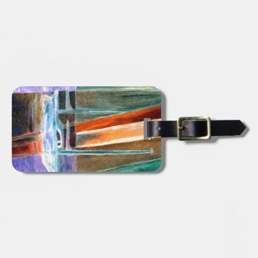Regalos intangibles abstractos de la decoración de etiquetas para maletas