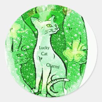 Regalos irlandeses afortunados del gato etiquetas