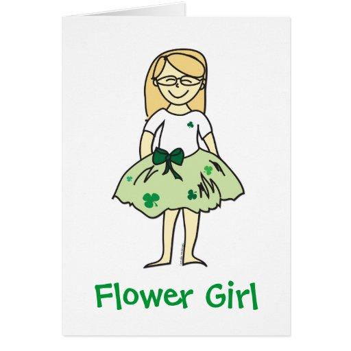 Regalos irlandeses del florista del boda tarjeta de felicitación