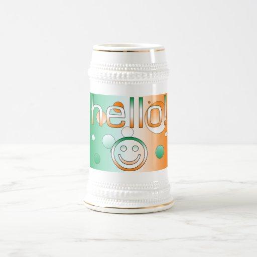 Regalos irlandeses: Hola + Cara sonriente Jarra De Cerveza