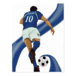 regalos italianos del fútbol para los aficionados  tarjetas postales