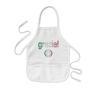 Regalos italianos: Gracias/Grazie + Cara sonriente Delantal Infantil