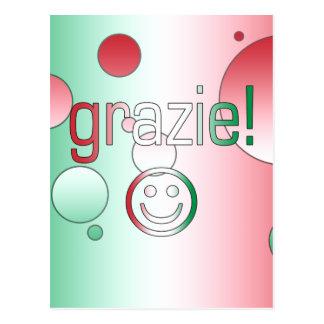 Regalos italianos: Gracias/Grazie + Cara sonriente Tarjeta Postal