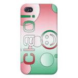Regalos italianos: Hola/Ciao + Cara sonriente iPhone 4/4S Funda