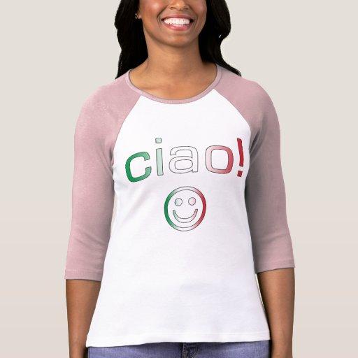 Regalos italianos: Hola/Ciao + Cara sonriente Camiseta