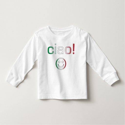 Regalos italianos: Hola/Ciao + Cara sonriente T Shirts