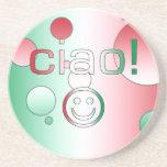 Regalos italianos: Hola/Ciao + Cara sonriente Posavasos Diseño