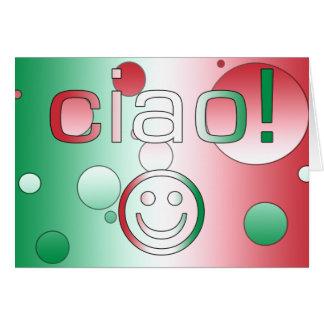 Regalos italianos: Hola/Ciao + Cara sonriente Tarjeta De Felicitación