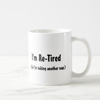Regalos jubilados de la mordaza taza de café