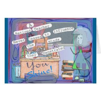 Regalos jubilados del arte del profesor tarjetas