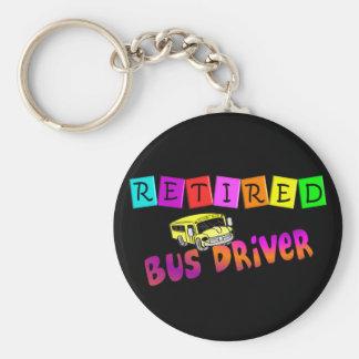 Regalos jubilados del conductor del autobús llavero personalizado