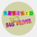 Regalos jubilados del conductor del autobús etiqueta