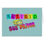 Regalos jubilados del conductor del autobús felicitaciones