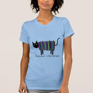 Regalos jubilados del gato del libro del bibliotec camiseta