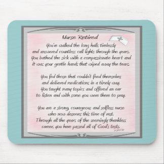 Regalos jubilados del poema de la enfermera por el tapetes de ratones