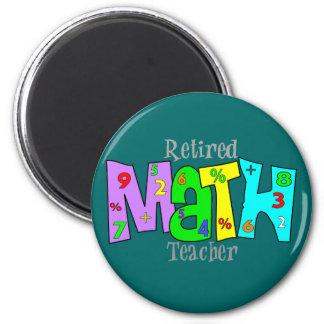 Regalos jubilados del profesor de matemáticas imán redondo 5 cm