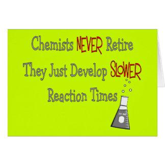 Regalos jubilados del químico tarjeta de felicitación