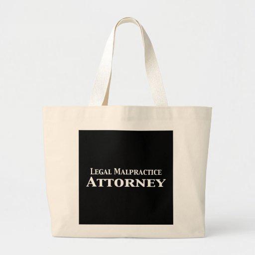 Regalos legales del abogado de la negligencia bolsas lienzo