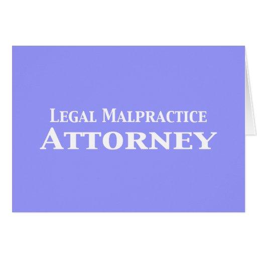 Regalos legales del abogado de la negligencia tarjetas
