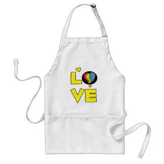 Regalos lesbianos gay del corazón del orgullo del  delantal
