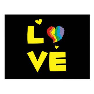 Regalos lesbianos gay del corazón del orgullo del postal