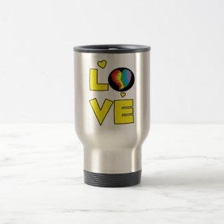 Regalos lesbianos gay del corazón del orgullo del  tazas