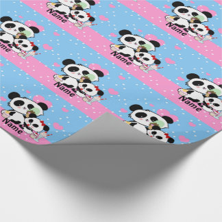 Regalos lindos de la panda papel de regalo