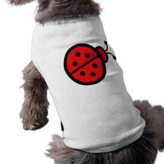 Regalos lindos del arte de la mariquita camisa de perro