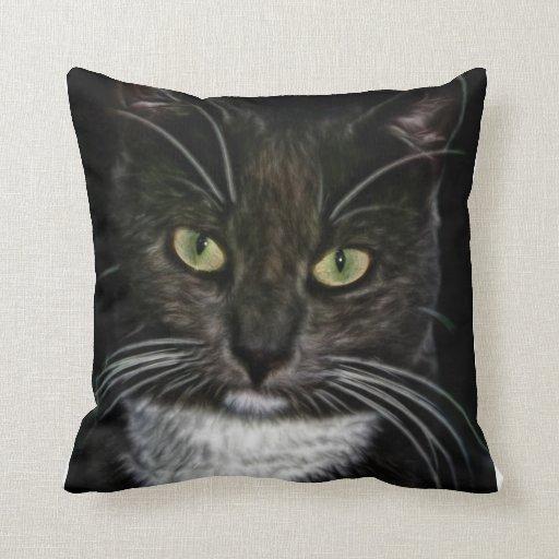 Regalos lindos del destino del maullido del gato almohadas