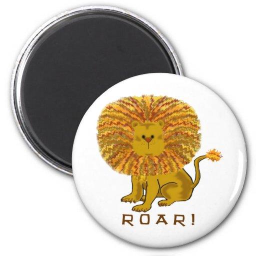Regalos lindos del león imán redondo 5 cm