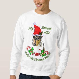 Regalos lisos del navidad del collie jersey