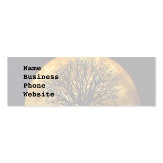 Regalos llenos frescos de la silueta del árbol de  plantilla de tarjeta de visita
