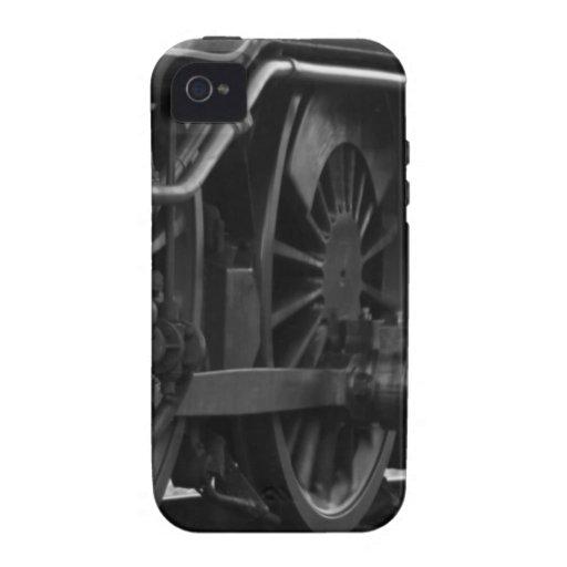 Regalos locomotores del tren del motor de vapor iPhone 4 carcasa