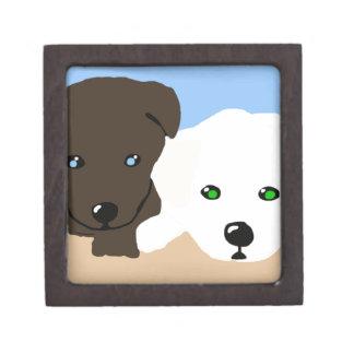 Regalos marrones y blancos lindos del arte del per caja de regalo de calidad