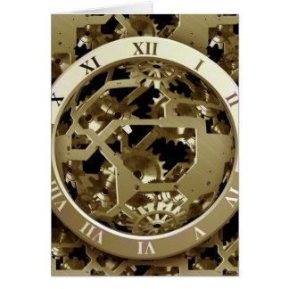 Regalos mecánicos de Steampunk de los relojes y de Tarjeta De Felicitación