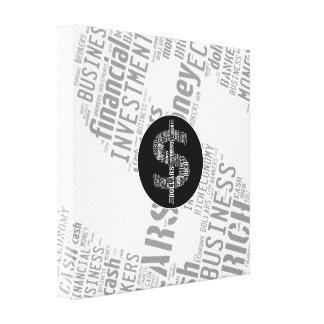 Regalos mecanografiados dinero del negocio del impresión en lona estirada