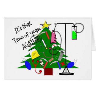 Regalos médicos del árbol de navidad--Divertido Tarjetón