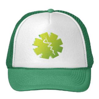 regalos médicos del caduceo verde gorro de camionero
