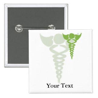 regalos médicos del caduceo verde pin