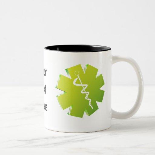 regalos médicos del caduceo verde tazas