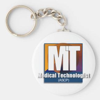 Regalos médicos del tecnólogo (ASCP) Llavero Redondo Tipo Pin