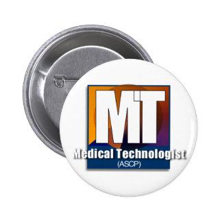 Regalos médicos del tecnólogo (ASCP) Pin Redondo De 2 Pulgadas