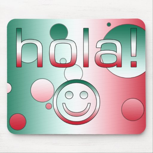 Regalos mexicanos: Hola/Hola + Cara sonriente Tapete De Raton