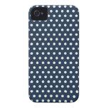 Regalos minúsculos blancos de los lunares de los a iPhone 4 Case-Mate protectores